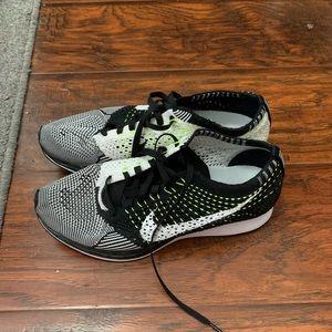 Nike Flyknit Racers Volt Size 6 (7.5 women's)